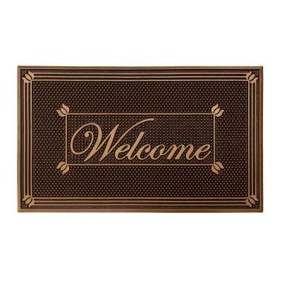 Copper Painted 18 in. x 30 in. Rubber Indoor/Outdoor Welcome Mat