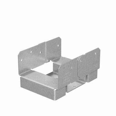 ABA 4 in. x 6 in. Rough ZMAX Galvanized Adjustable Post Base