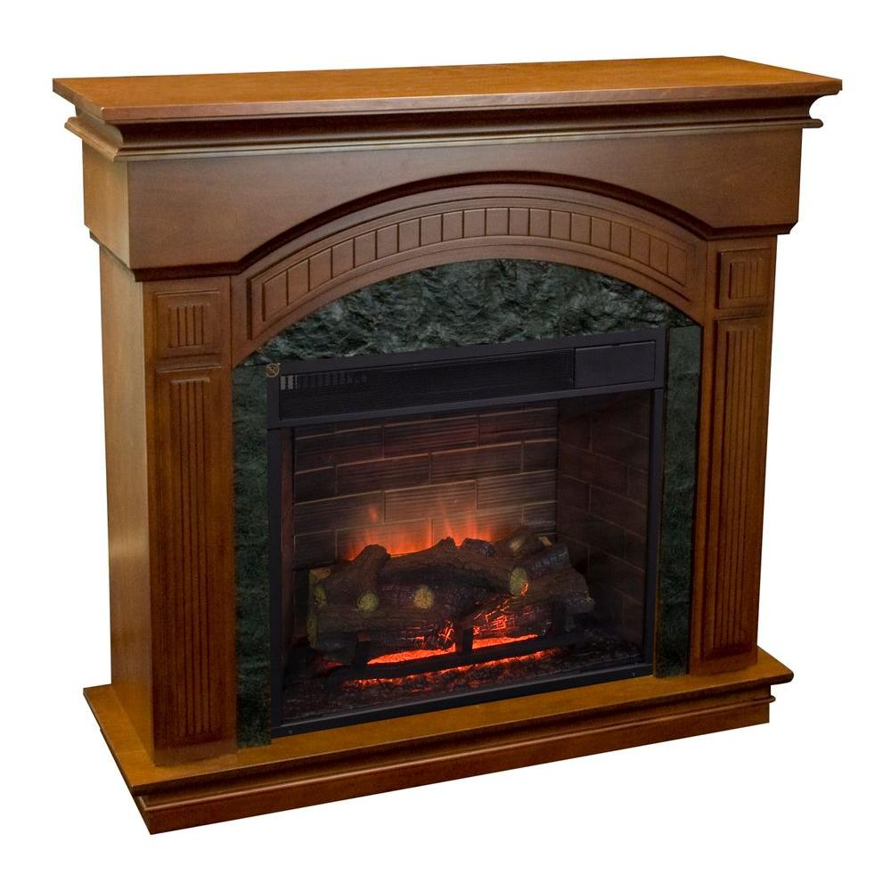 Estate Design Haley 40 in. Electric Fireplace in Walnut-DISCONTINUED