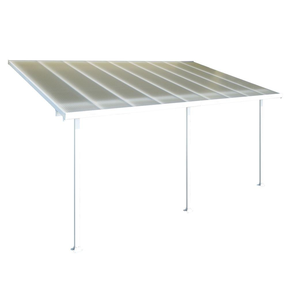 Palram Aluminum and Polycarbonate 10 ft. x 18 ft. Patio Cover-DISCONTINUED
