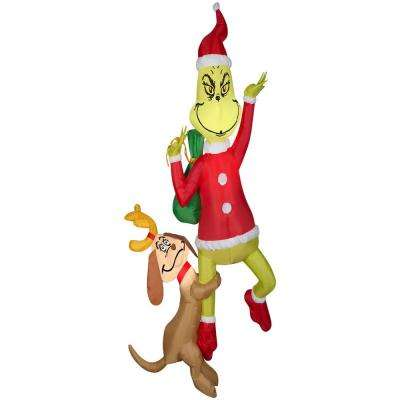 6 ft. Airblown-Hanging Grinch with Maximum-Grinch