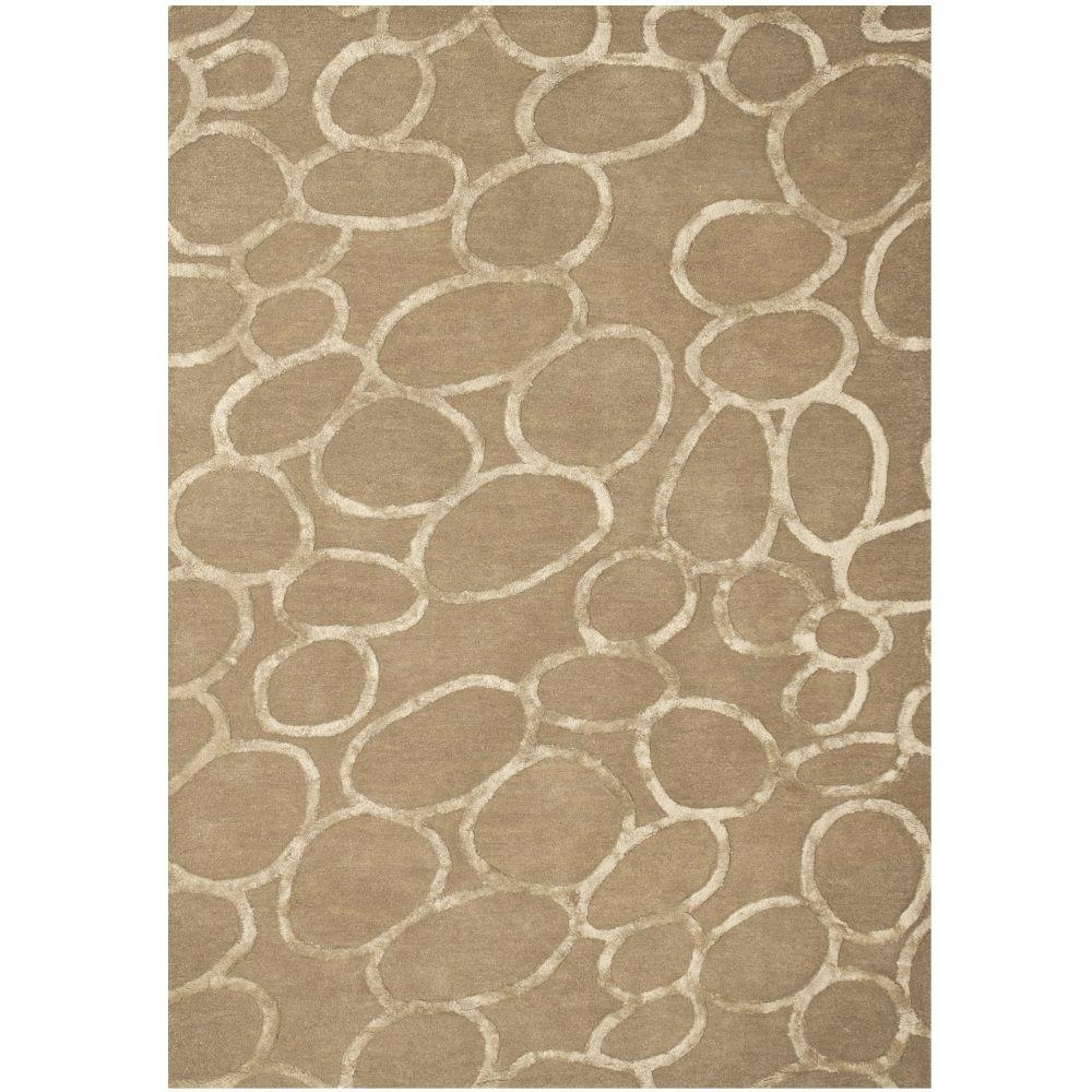 Sams International Pixley Rings Grey 8 ft. x 10 ft. Area Rug