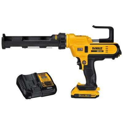 20-Volt MAX Lithium-Ion Cordless 300 ml Adhesive Gun Kit with Battery 2Ah and Charger