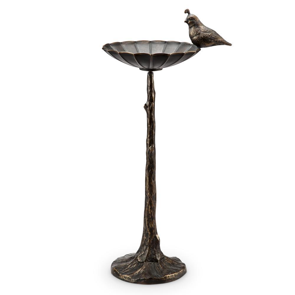 Quail Birdbath/Birdfeeder Bird Feeder