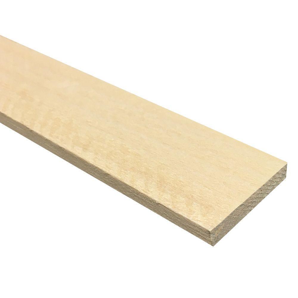 1/4 in. x 2 in. x 4 ft. Hobby Board Kiln Dried S4S Poplar Board (40-Piece)