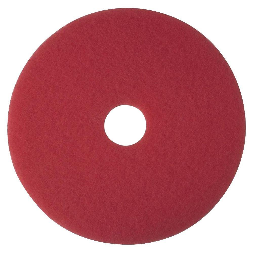 16 in. Red Buffer Pads (5 Per Carton)