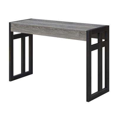 Monterey Weathered Gray and Black Frame Console Table