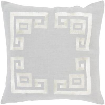 Bouverie Grey Geometric Polyester 18 in. x 18 in. Throw Pillow