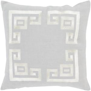 Bouverie Grey Geometric Polyester 20 in. x 20 in. Throw Pillow