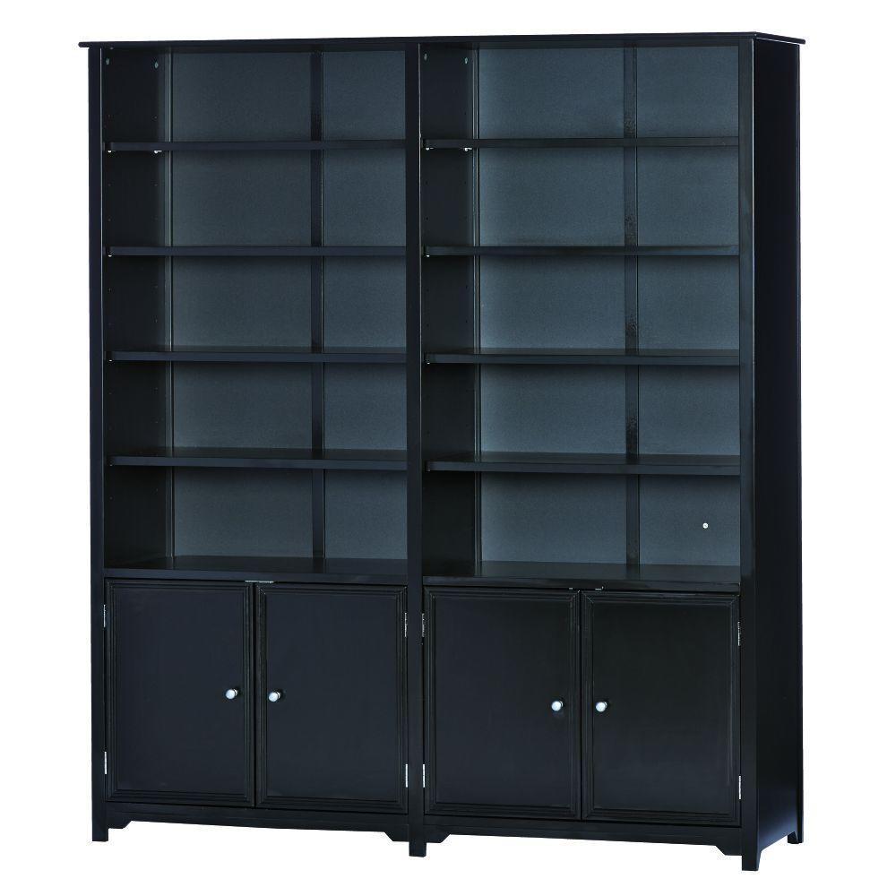Oxford Black Storage Open Bookcase