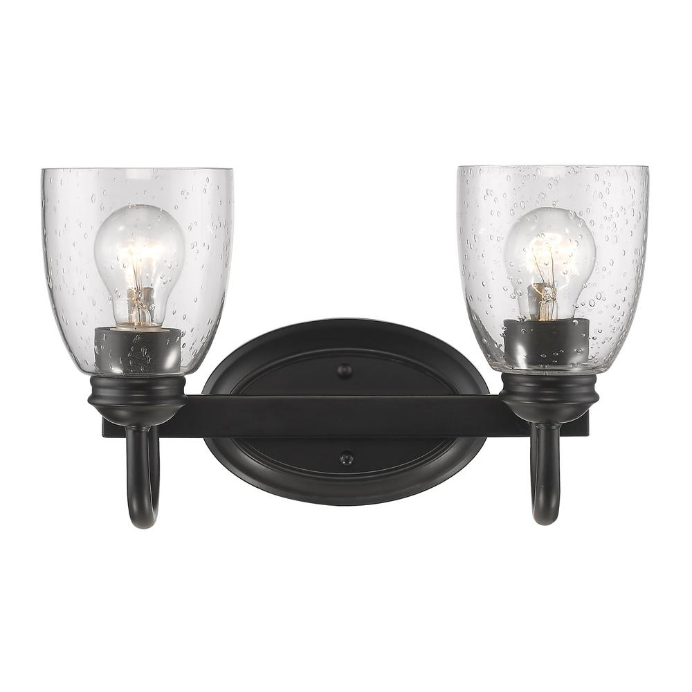 black bathroom vanity light golden lighting parrish 2 light black bath light 8001 ba2 17386
