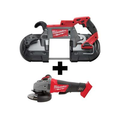 M18 FUEL 18-Volt Lithium-Ion Brushless Cordless Deep Cut Band Saw with M18 FUEL 4-1/2 in./5 in. Grinder