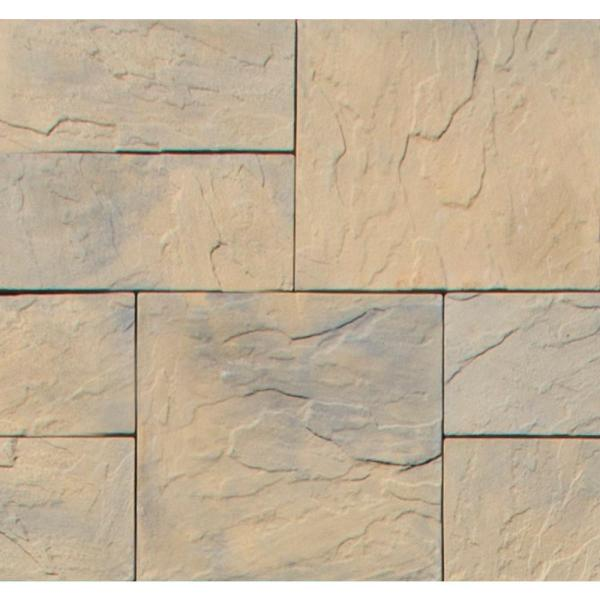 Patio-on-a-Pallet 126 in. x 126 in. Concrete Tan Variegated Kingsmill Yorkstone Paver