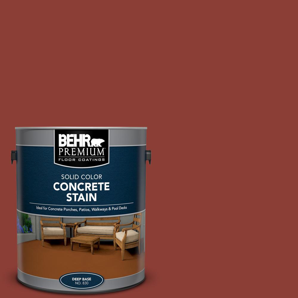BEHR PREMIUM 1 gal. #PFC-10 Deep Terra Cotta Solid Color Flat Interior/Exterior Concrete Stain