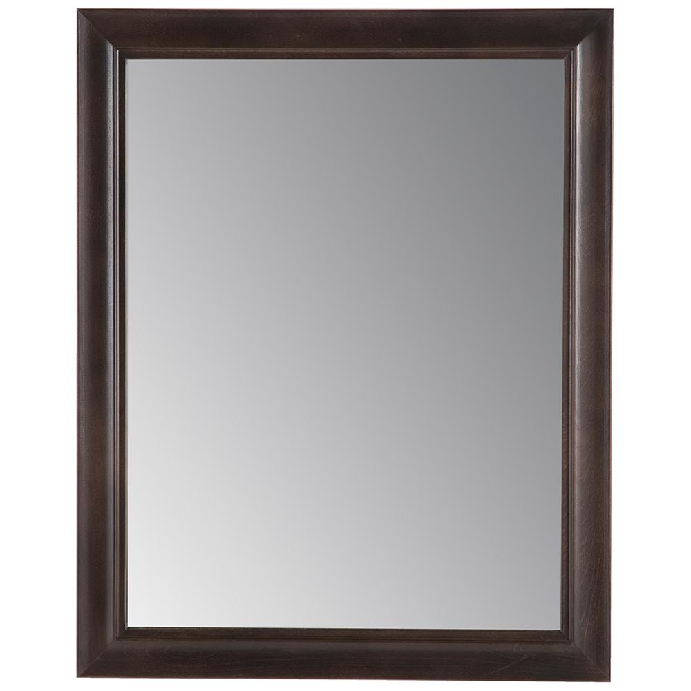 Glacier Bay Candlesby 22 in. x 27 in. Framed Wall Mirror in Pewter