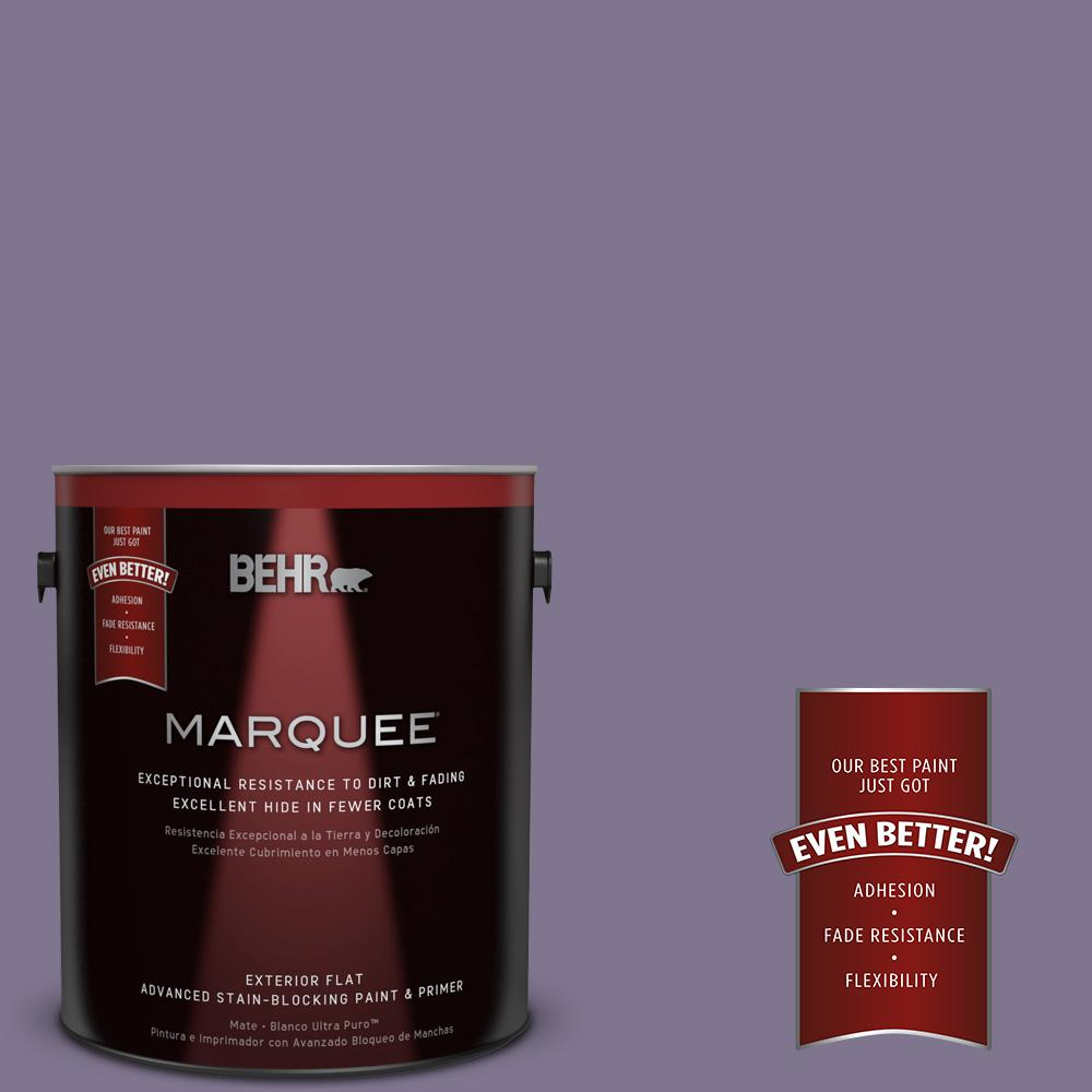 BEHR MARQUEE 1-gal. #650F-5 Purple Statice Flat Exterior Paint