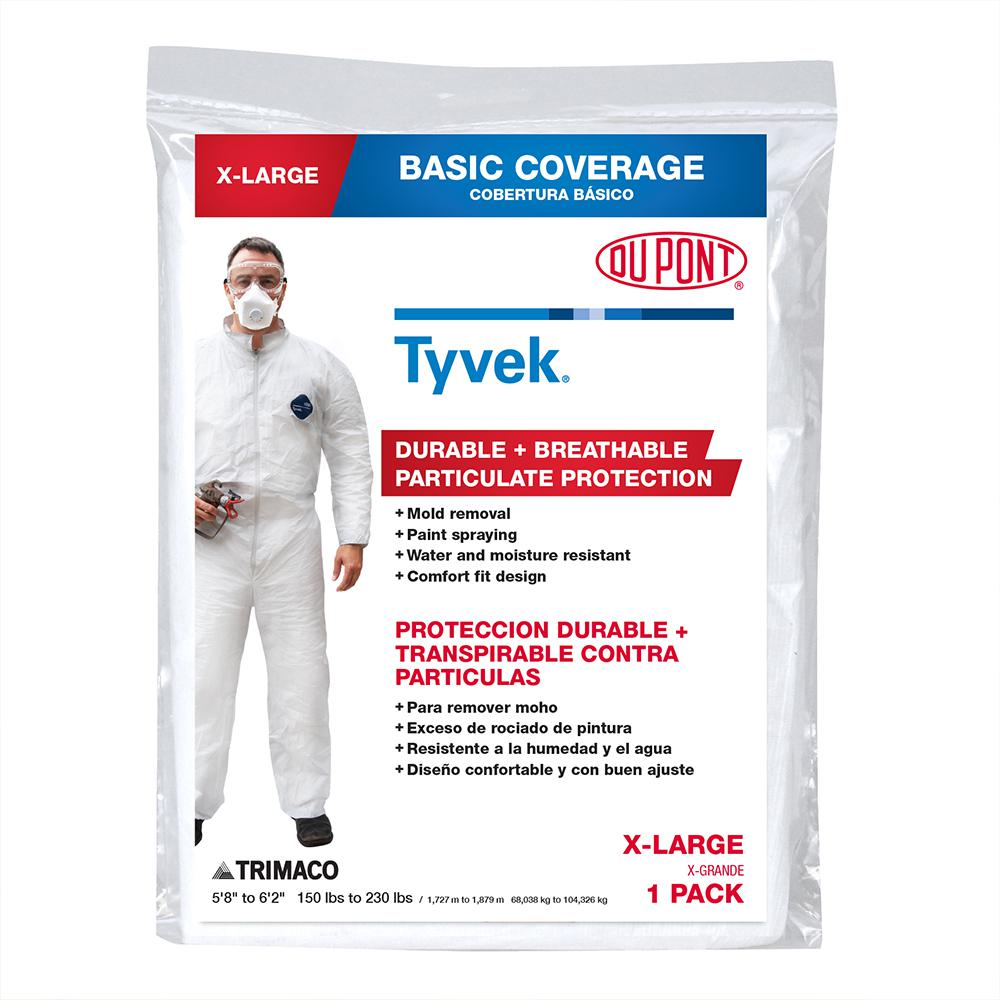 TRIMACO DuPont Tyvek XL No Elastic Painters Coverall