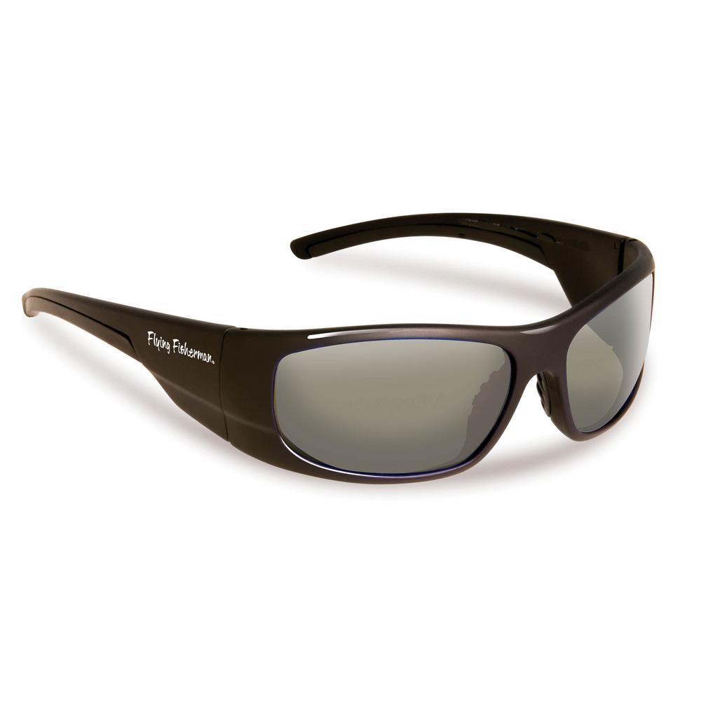 Cape Horn Polarized Sunglasses in Black Frame with Smoke Lens