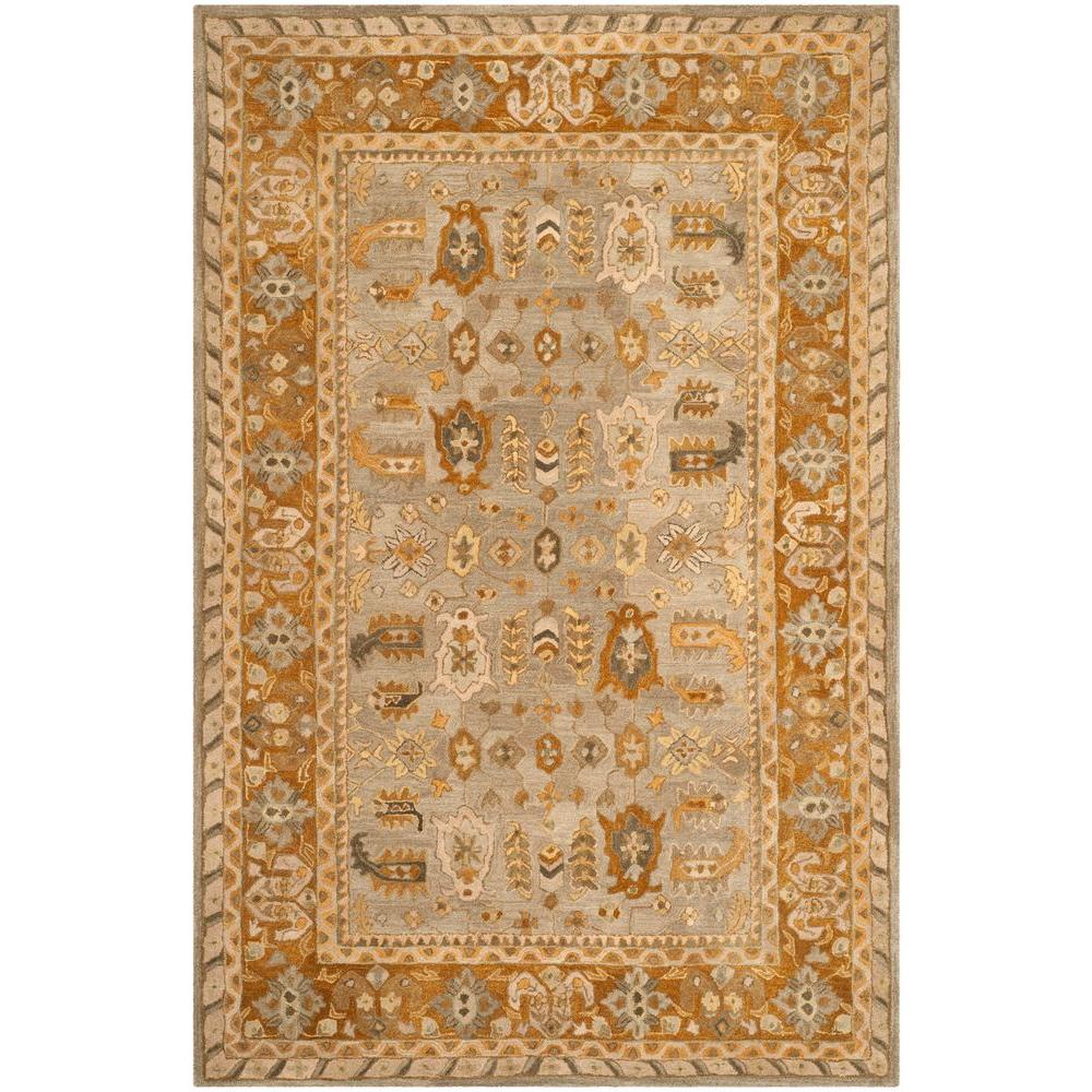 Anatolia Light Grey/Gold 6 ft. x 9 ft. Area Rug
