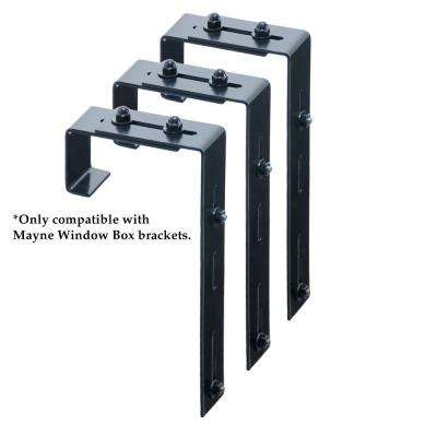 Window Box Deck Rail Steel Brackets (3-Pack)