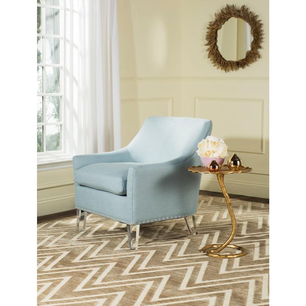 Safavieh Hollywood Glam Teal/Clear Cotton Club Arm Chair