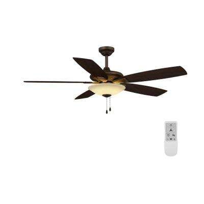 Menage 52 in. Integrated LED Oil Rubbed Bronze Ceiling Fan with Wi-Fi Remote Control Works with Google and Alexa