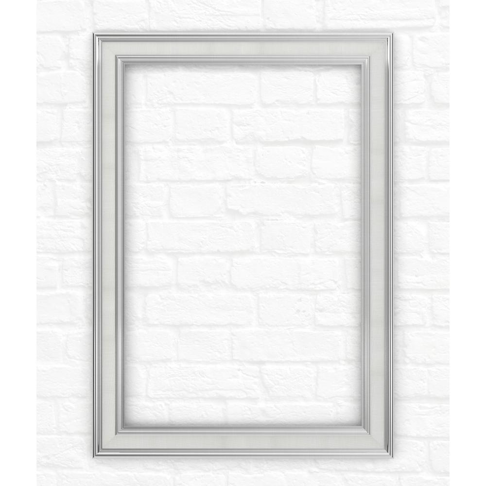 33 in. x 47 in. (L1) Rectangular Mirror Frame in Chrome