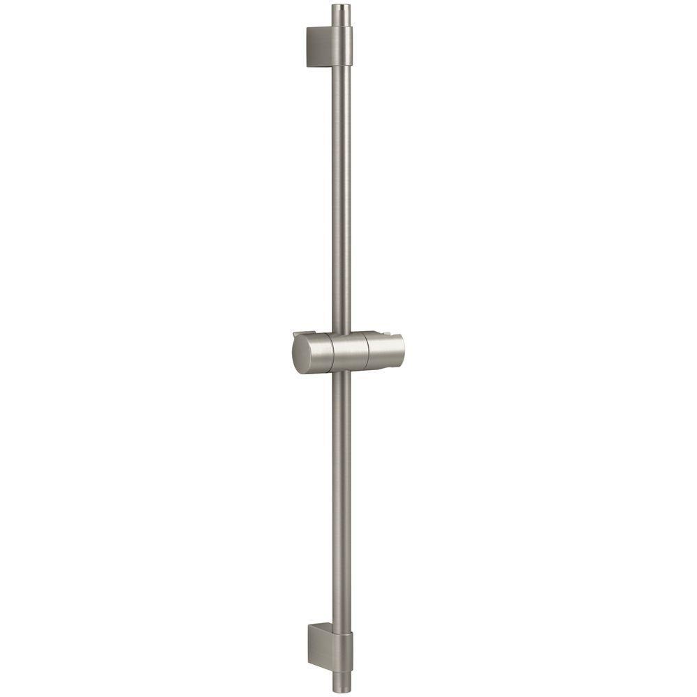 Awaken 1-spray Single Function Wall Bar Shower Kit in Vibrant Brushed