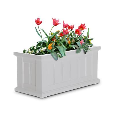 Self-Watering Cape Cod 24 in. x 11 in. White Plastic Planter