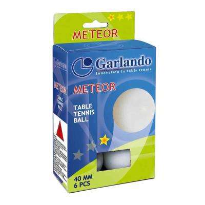 Garlando Meteor 1-Star Table Tennis Balls Set of 6
