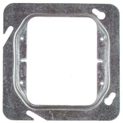 2-Gang 4-11/16 in. Square Metal Electrical Box Cover for 2 Devices
