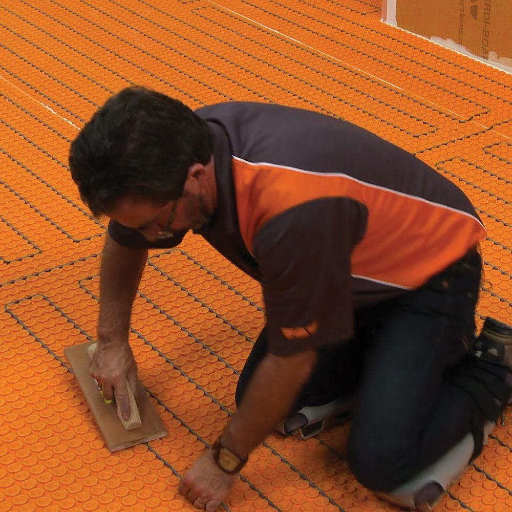 Schluter Ditra Heat 43 1 Sq Ft Electric Flooring Warming Kit Dhek12040 The Home Depot