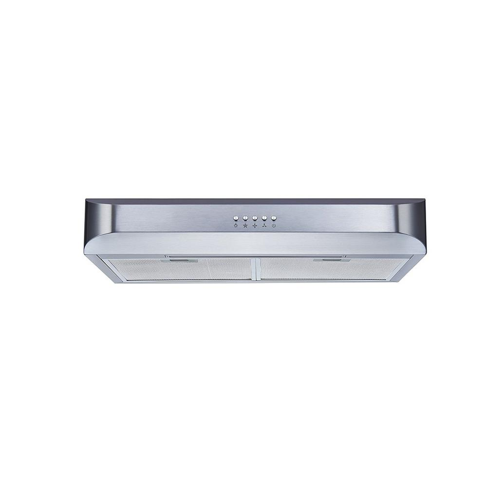Winflo 30 in. Under Cabinet Slim Design Range Hood in Stainless ...