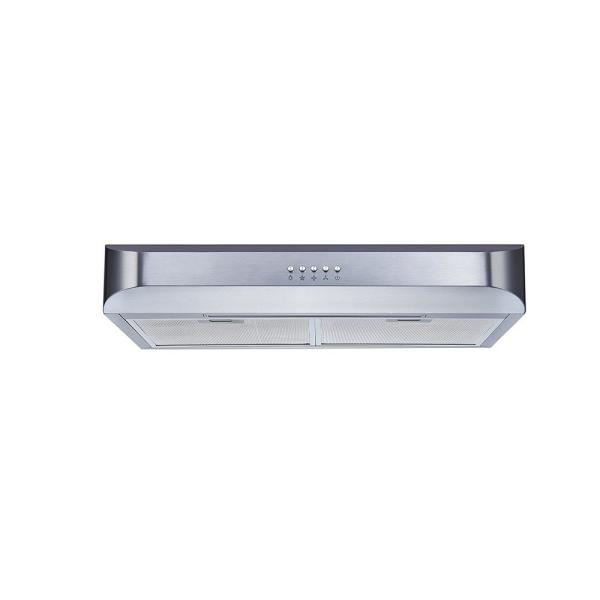 30 in. 350 CFM Convertible Under Cabinet Range Hood in Stainless Steel with Push Button and Mesh Filters