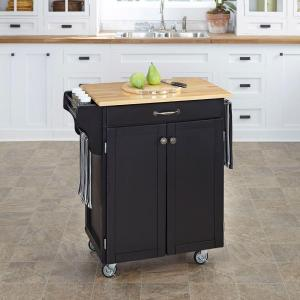 Click here to buy Home Styles Create-a-Cart Black Kitchen Cart With Natural Wood Top by Home Styles.