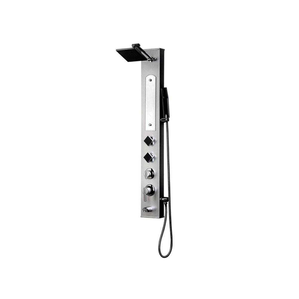 2-Jet Shower Panel System in Silver Stainless Steel (Valve Included)