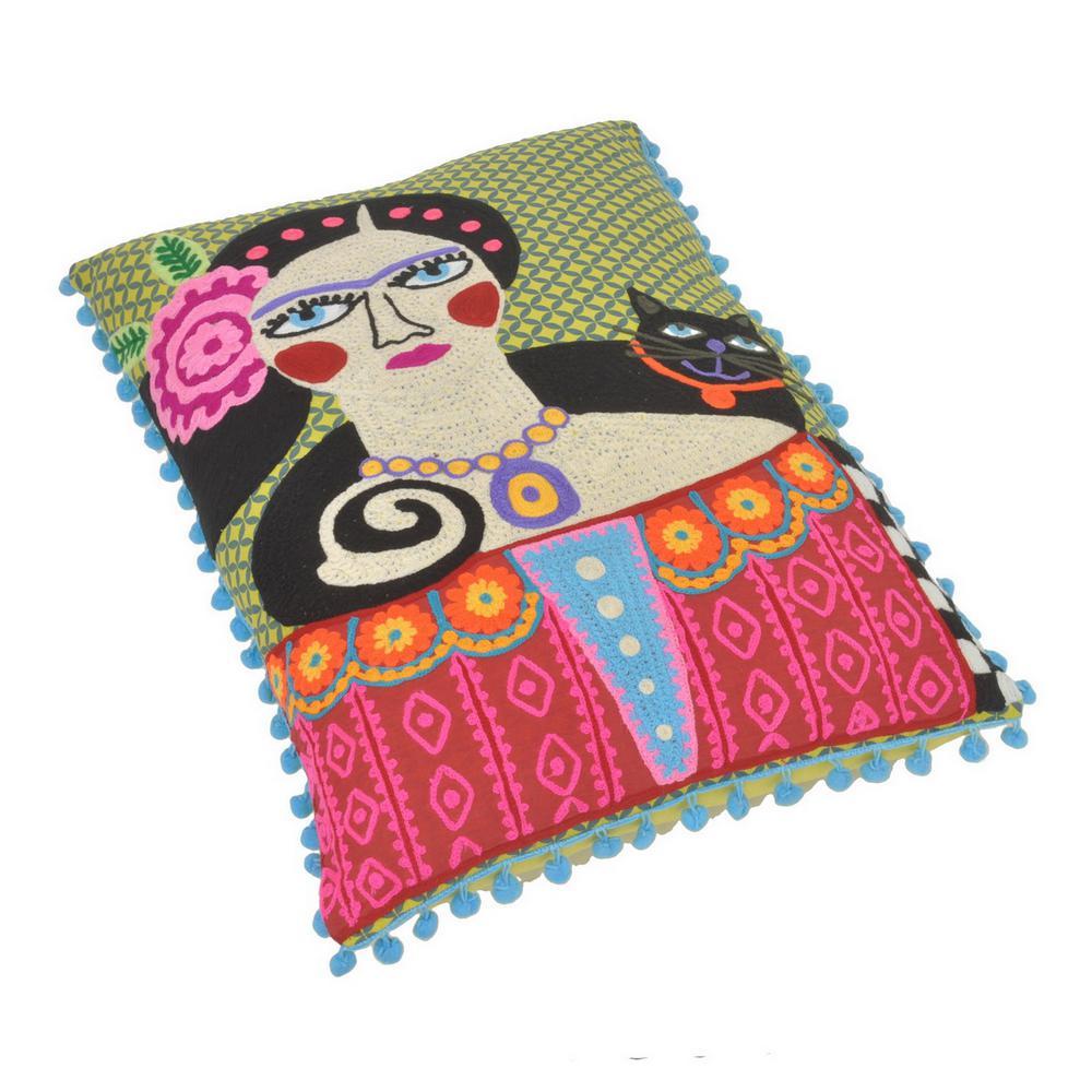 2 in. Pillow in Multi-Colored