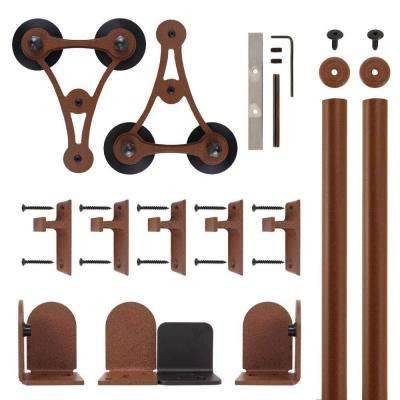 V-8 New Age Rust Rolling Door Hardware Kit for 3/4 in. to 1-1/2 in. Door
