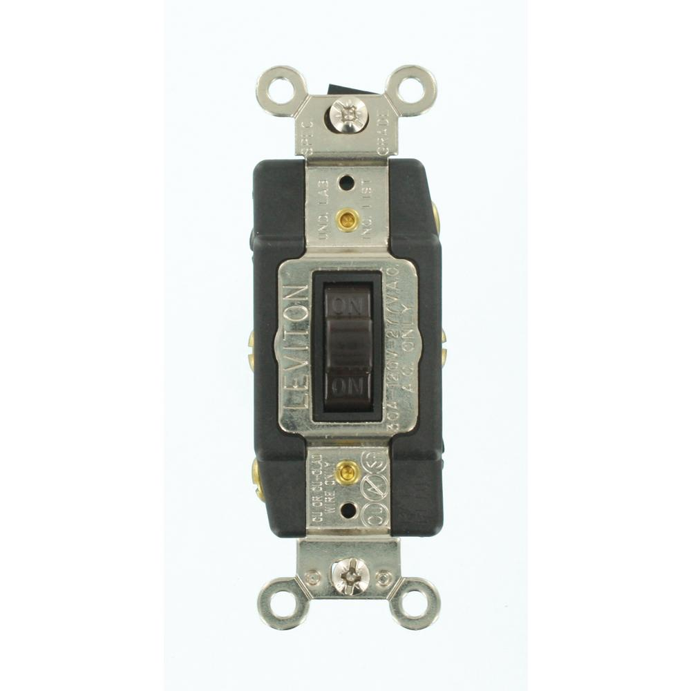 Leviton 30 Amp Industrial Grade Heavy Duty Double-Pole Double-Throw  Center-Off