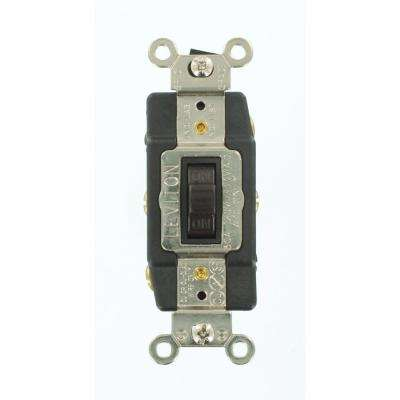 30 Amp Industrial Grade Heavy Duty Double-Pole Double-Throw Center-Off Momentary Contact Toggle Switch, Brown