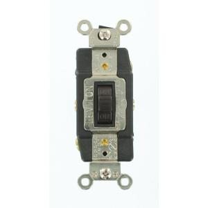 Leviton 30 amp industrial double pole switch white r62 03032 2ws 30 amp industrial grade heavy duty double pole double throw center off momentary sciox Gallery
