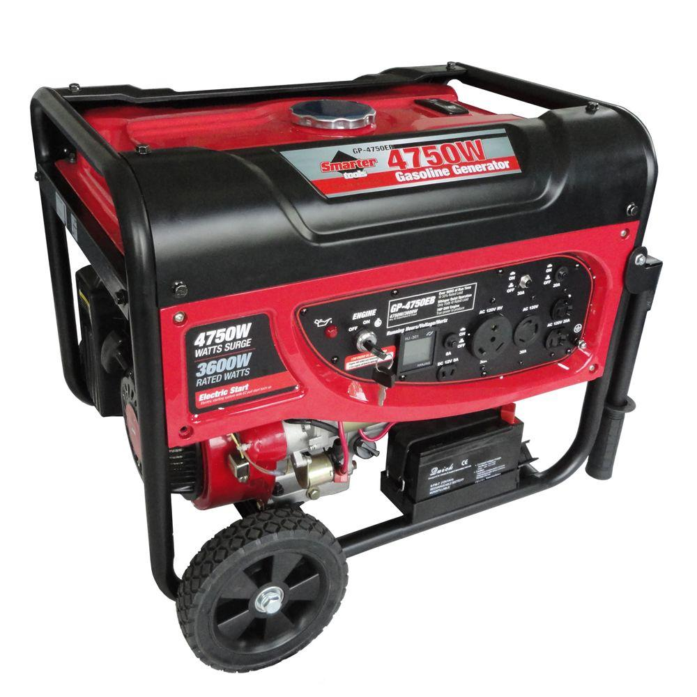 Smarter Tools GP4750EB 3,600 Continuous Watt Gasoline Powered Portable Generator