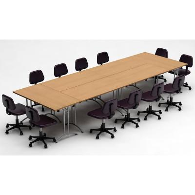 6-Piece Natural Beech Conference Tables Meeting Tables Seminar Tables Compact Space Maximum Collaboration