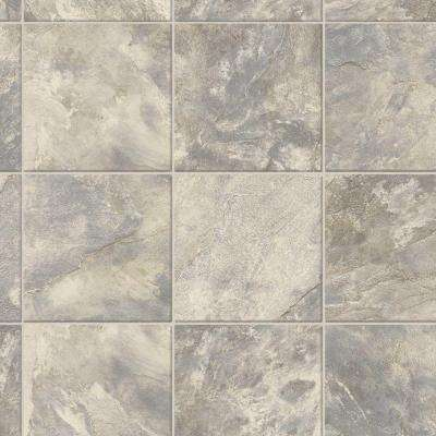 Take Home Sample - Square Slate Tile Vinyl Sheet - 6 in. x 9 in.