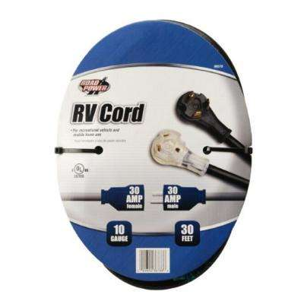 30 ft. 10/3 STW RV Extension Cord, Black
