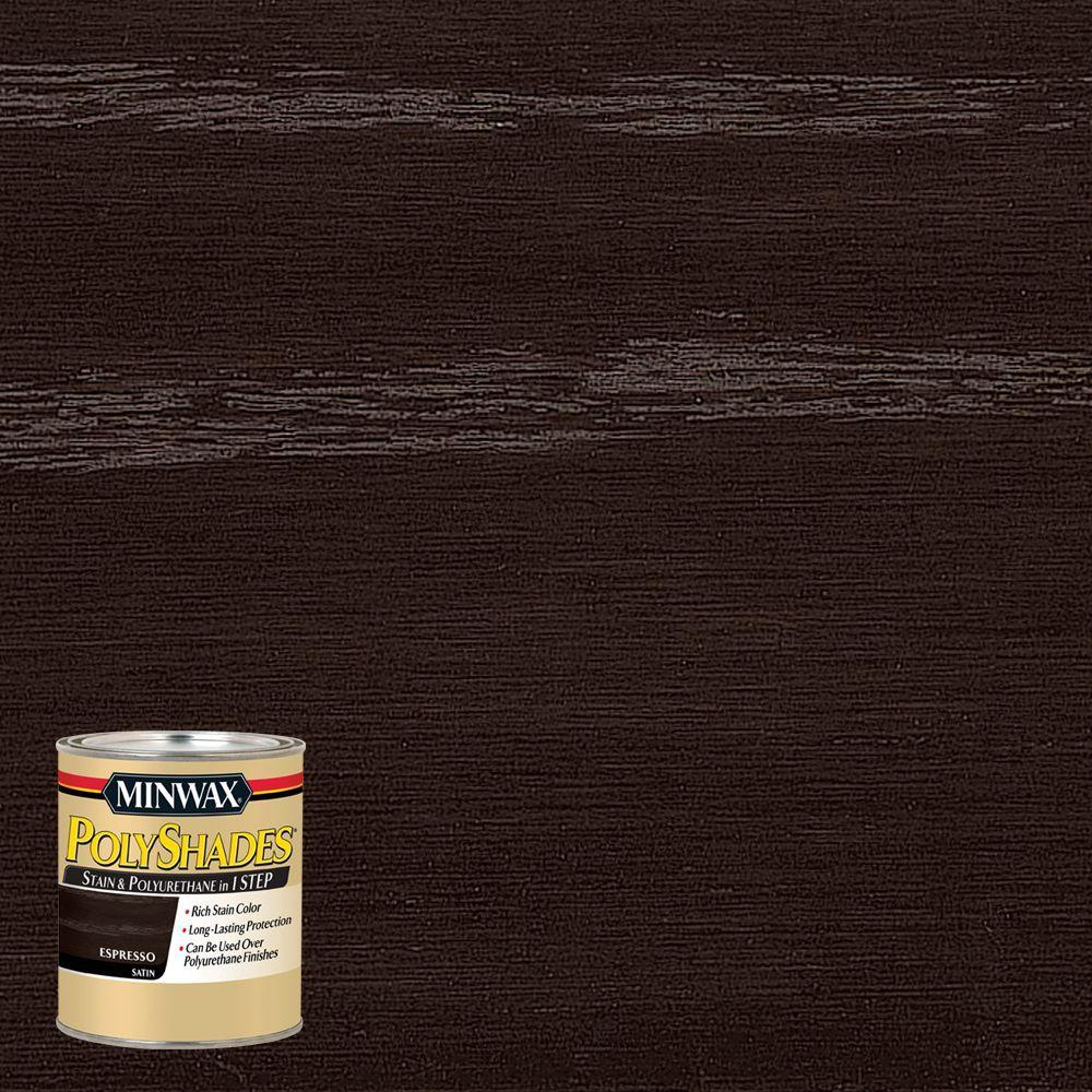 8 oz. PolyShades Espresso Satin 1-Step Stain and Polyurethane (4-Pack)