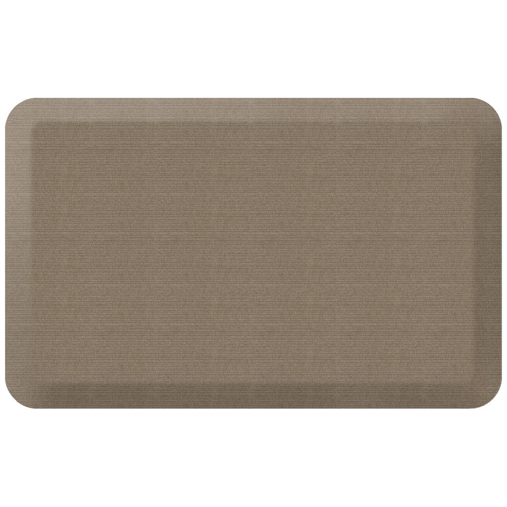NewLife Designer Grasscloth Pecan 20 in. x 32 in. Anti-Fatigue Comfort Kitchen Mat