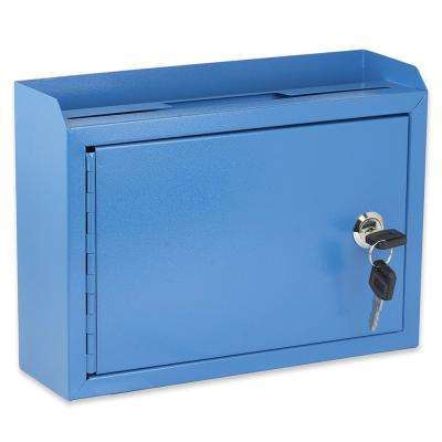 Medium Size Blue Steel Multi-Purpose Suggestion Drop Box
