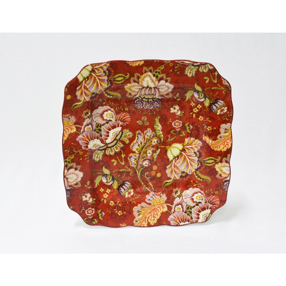 222 Fifth Gabrielle Red 16-Piece Dinnerware Set-1020RD804A1G97 - The ...