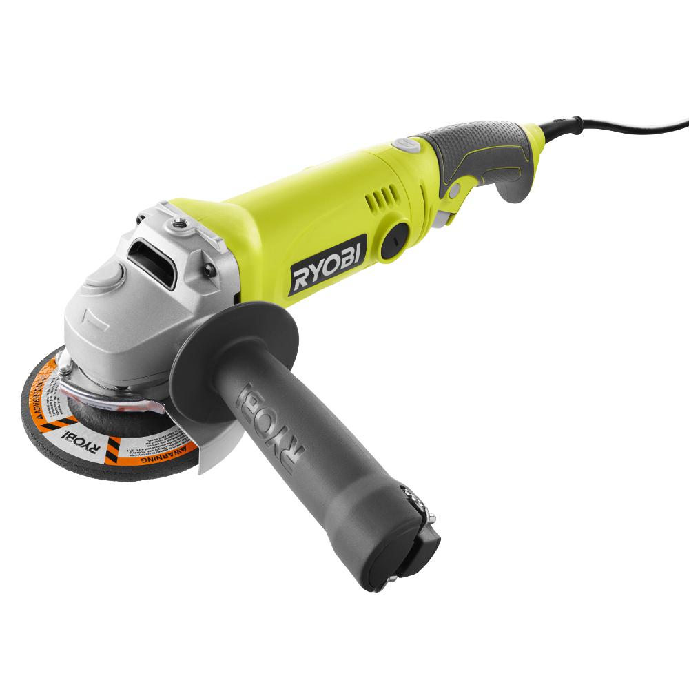 Ryobi 7.5 Amp 4.5 in. Corded Angle Grinder-AG454 - The Home Depot